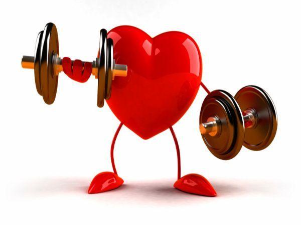 Сердце с гантелями, тренировки с гипертонией. Самбо-Уфа